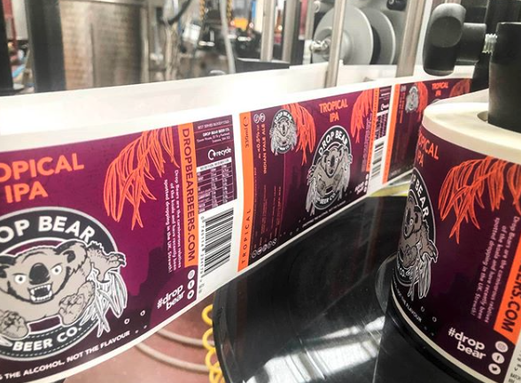 Craft Beer Labels on roll