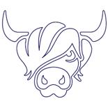 Moo Hair Cattle Logo