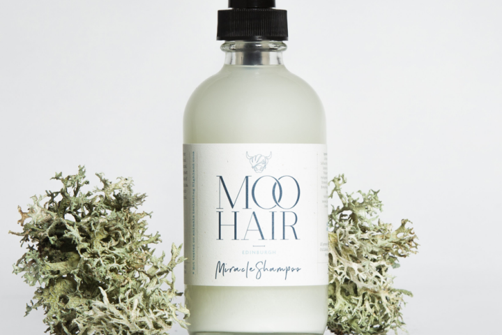 Moo Hair Miracle Shampoo Glass Bottle Digital Label Printing