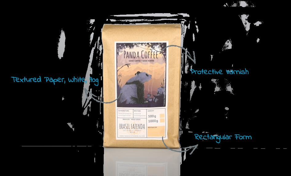 Panda Coffee Pouch