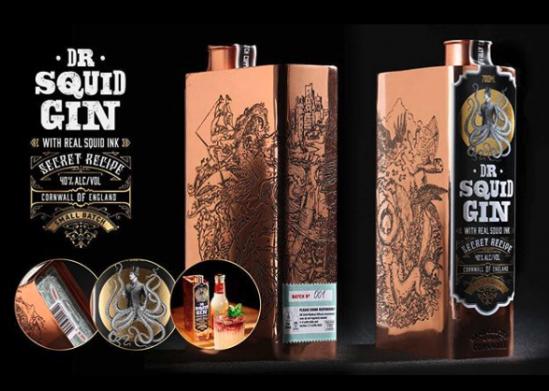 Dr Squid Gin Bottle
