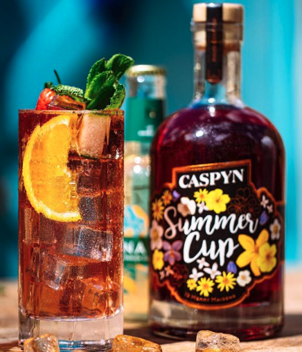 Caspyn Summer Cup bottle and glass