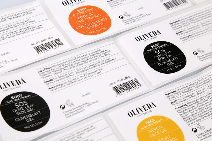 digitally printed personal care labels